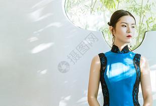 旗袍中国风人像图片