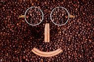 咖啡豆笑脸图片