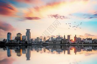 城市天边图片
