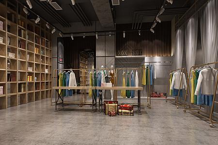 现代服装店展台图片
