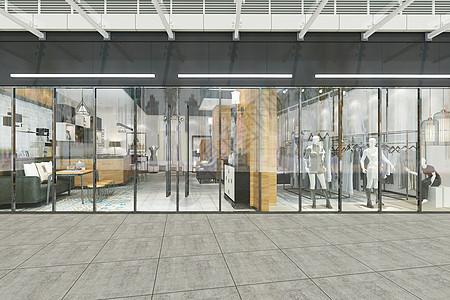 现代服装店门头图片
