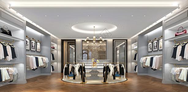 现代服装店效果图图片