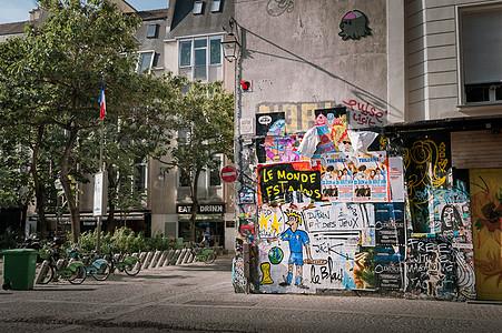 法国巴黎街头风景图片