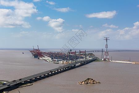 洋山深水港码头图片