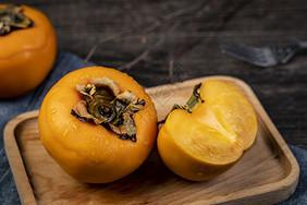 秋季脆柿子图片
