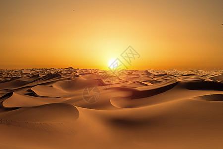 沙漠落日图片
