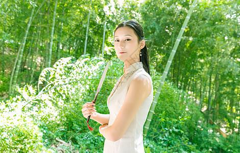 古风美女旗袍写真图片