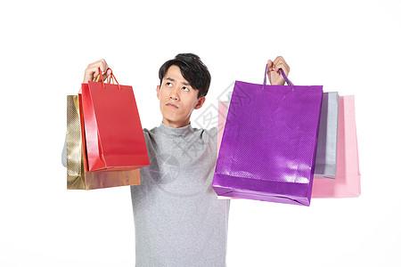 手提购物袋男性形象图片