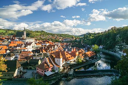 捷克CK小镇的风景图片