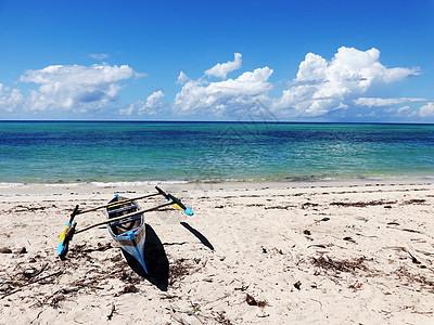 莫桑比克海峡风光海滩静物写生图片