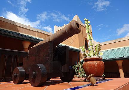 莫桑比克海峡风光非洲古时大炮图片