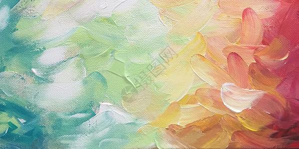 彩色油画背景图片