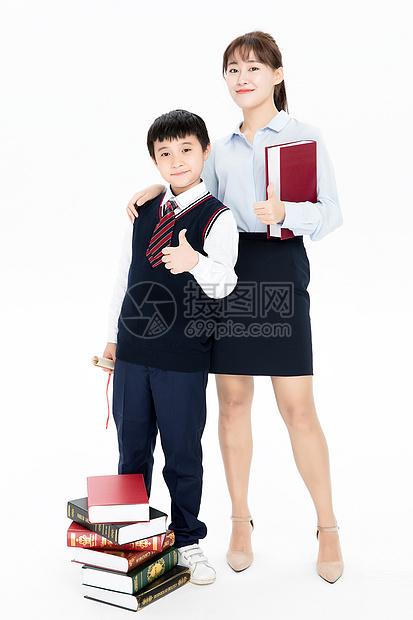 学生和老师一起合影图片