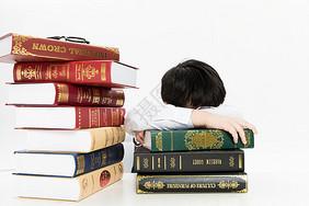 学习犯困的小学生图片