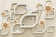 现代花纹背景墙图片