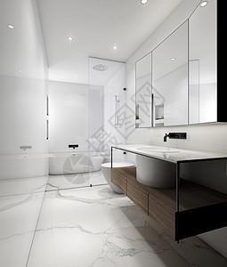 北欧风卫生间室内装饰设计效果图图片