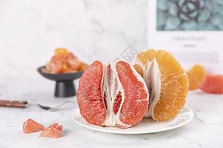 新鲜红柚果肉图片
