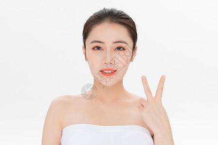 美容护肤第二步骤手势图片