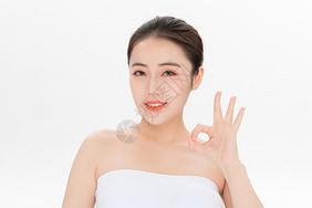 美容护肤步骤ok手势图片