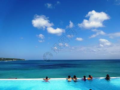 印尼巴厘岛无边泳池图片