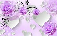 现代抽象花朵背景墙图片