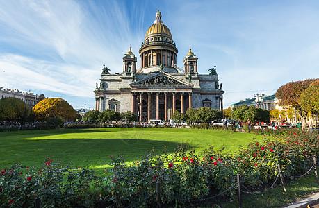 圣彼得堡著名景点圣以撒大教堂图片