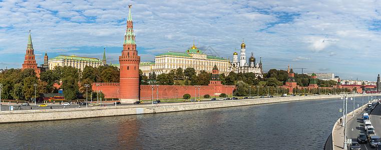 莫斯科著名旅游景点克里姆林宫全景图图片