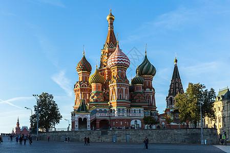 莫斯科著名旅游景点圣瓦西里大教堂图片