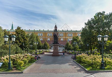 克里姆林宫旁边的亚历山大花园图片