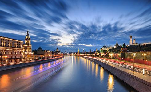 莫斯科河上的建筑风光图片