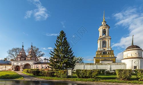 俄罗斯苏兹达尔旅游小镇苏兹达尔圣母圣袍法规大教堂图片