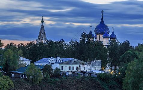 俄罗斯著名金环小镇苏兹达尔日落风光图片