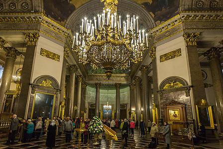 圣彼得堡著名景点喀山大教堂内部图片