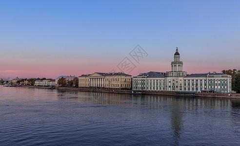 俄罗斯旅游城市圣彼得堡城市风光图片