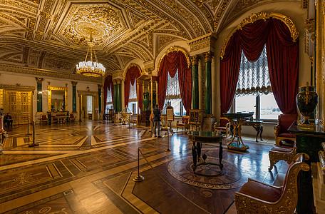 圣彼得堡著名旅游景点冬宫博物馆内部展厅图片
