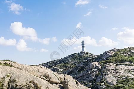 山上高压电塔图片