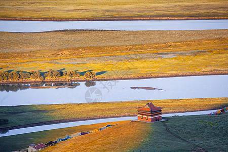 川西若尔盖草原唐克黄河图片