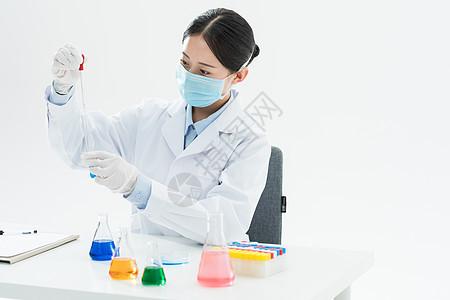 疫情下的医生医疗科研实验图片