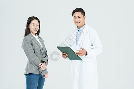 医生和病人聊天图片