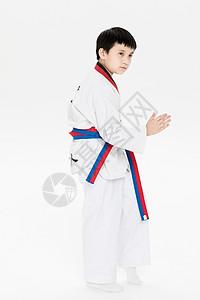 打跆拳道的小朋友图片