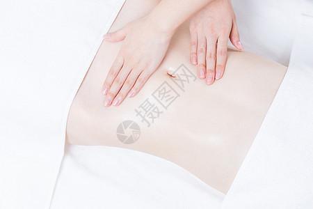 女性养生SPA腹部精油按摩图片