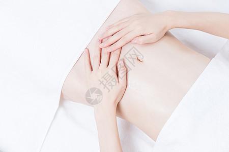 女性养生SPA腹部展示图片
