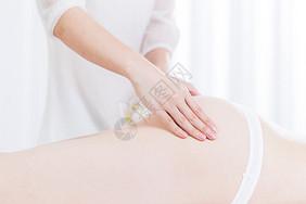 女性养生SPA臀部按摩图片