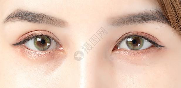 美女眼睛细节图片