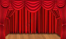 幕布舞台背景图片