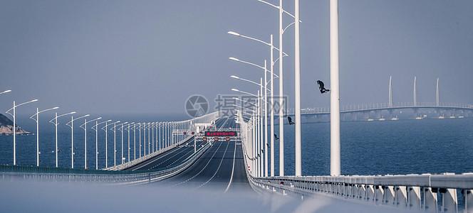 港珠澳大桥通车建成图片