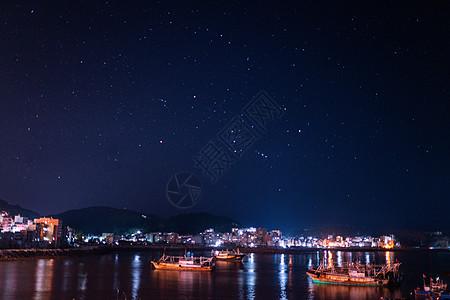 霞浦海边的星空图片