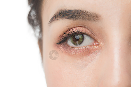 女性眼睛细节图片