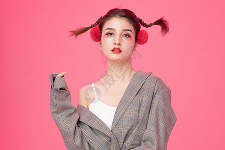 女性创意美妆图片
