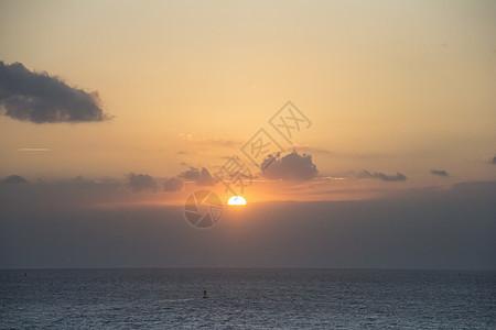 海边的夕阳图片
